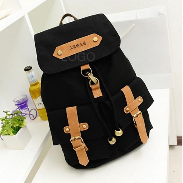 Great Fashion Lady Girl Versatile Canvas Satchel Backpack Shoulder School Bag