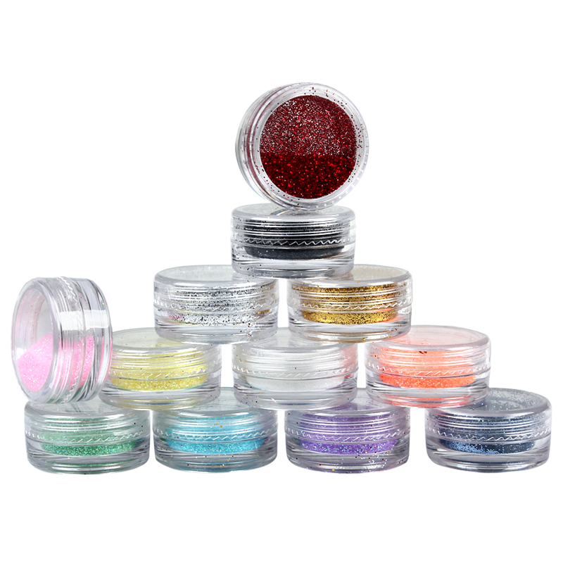 12 Color Glitters Sparkle Laser Powder For Nail Art Nail Tip Decoration