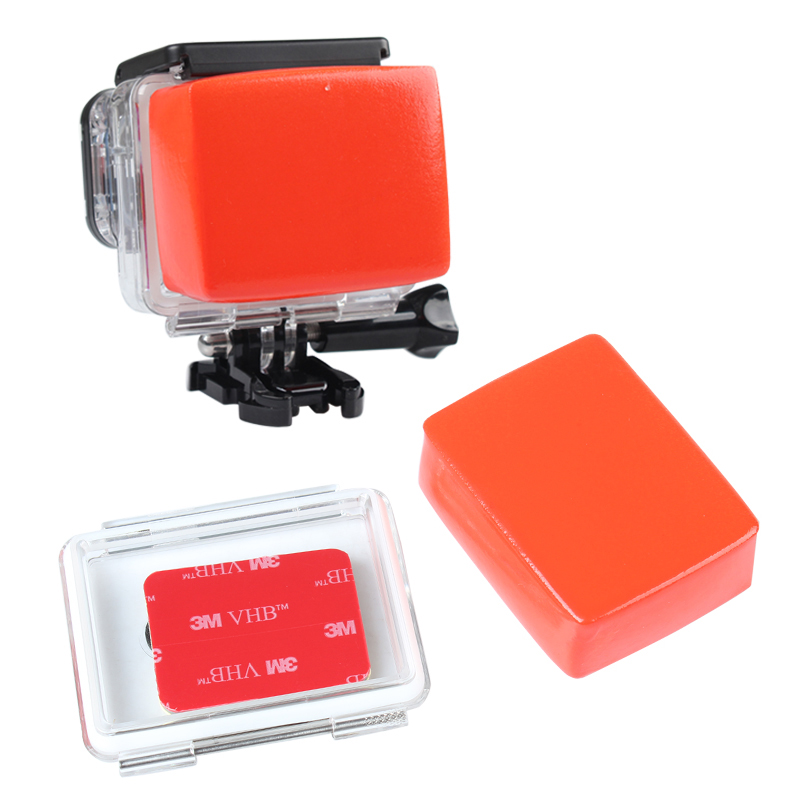 Float and Backdoor Waterproof Case With 3M Adhesive for GoPro Hero 2 Hero3