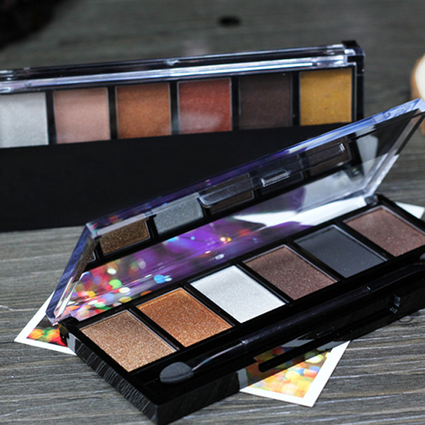 Vintage Style 6 Color Smoky Eyes Eye Shadow Cosmetic Makeup Palette Set