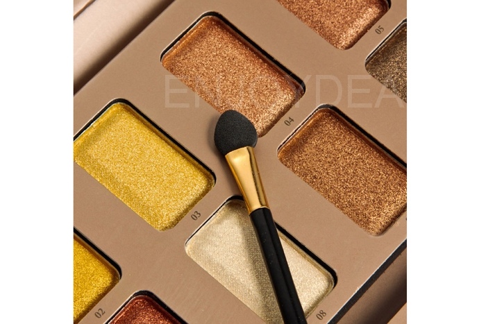 10 Color Waterproof Not Easy to Smudge Eye shadow Palette Makeup + Brush
