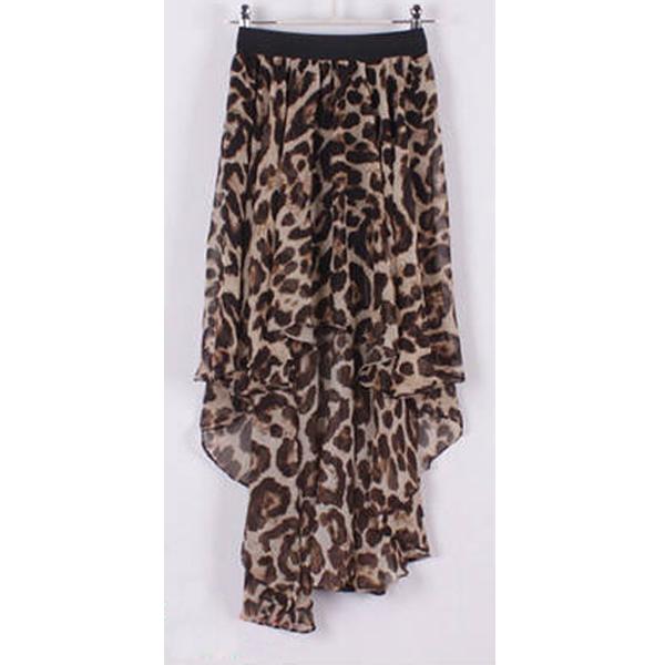 Irregular Forked Tail Style Chiffon Pleated Midi-Skirt Elastic Bust Skirt