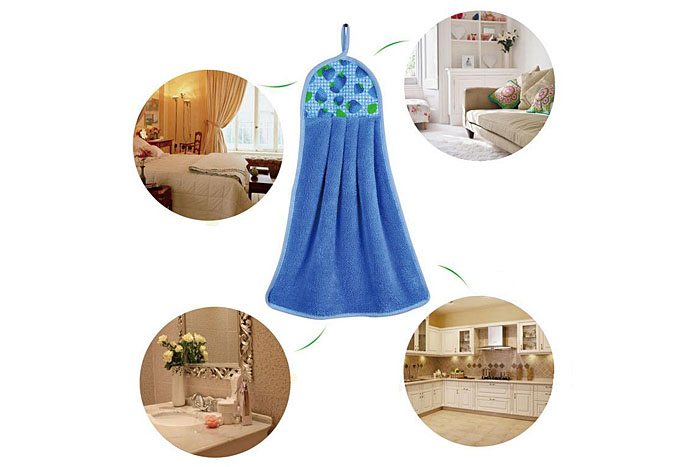 New Durable Widen Hand Towel Kitchen Hanging Terry Towel for Sucking Water