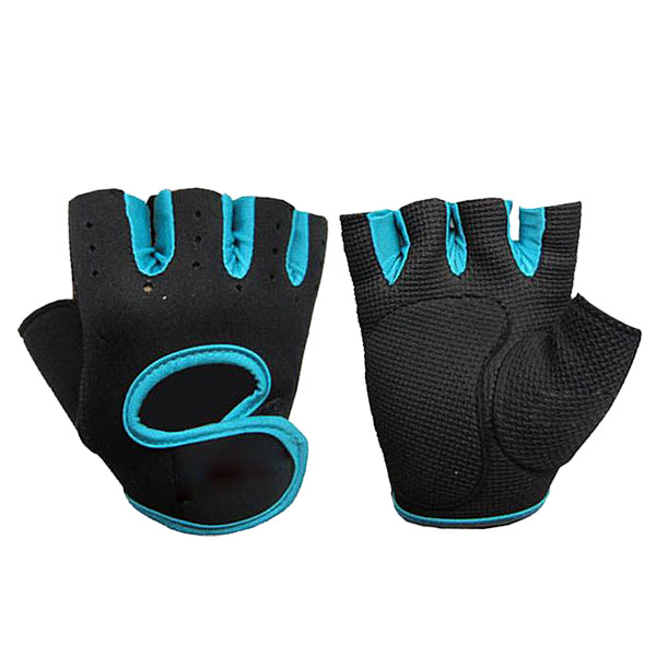 Cycling Fitness Half Finger Weightlifting Gloves for Exercise Blue Size M