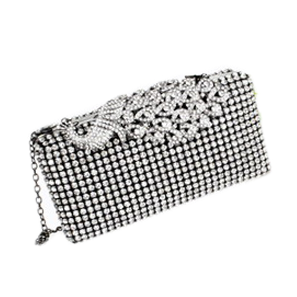 Wholesale High-end Messenger Handbag Accessories Jewelry with Peacock Pattern Silver