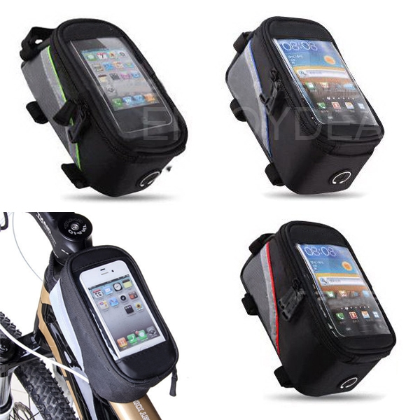 Waterproof Bicycle Cycling Front Frame Tube Phone Bag Case Pouch for Phone
