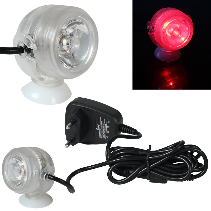 Mini LED Light Dual Used in Water and on Land for Home Decoration Red Light