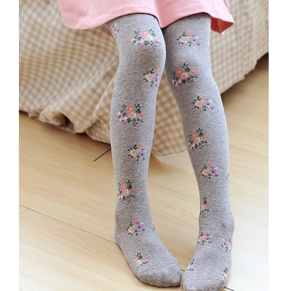 Hot Selling Beautiful Kids Durable Floral Cotton Stretch Legging