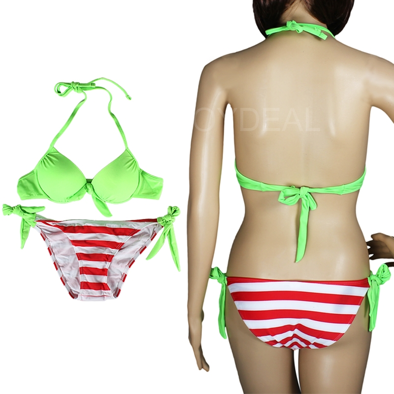 Fashion Sexy Women Ladies Push up Padded Bikini Trikini Swimwear Swimsuit