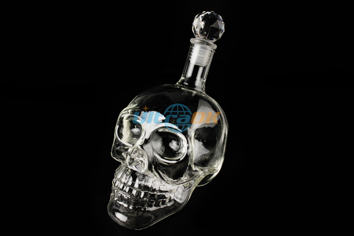 Crystal Head Skulls Vodka Whiskey Glass Bottle Bar Novelty Cool Drink Gift