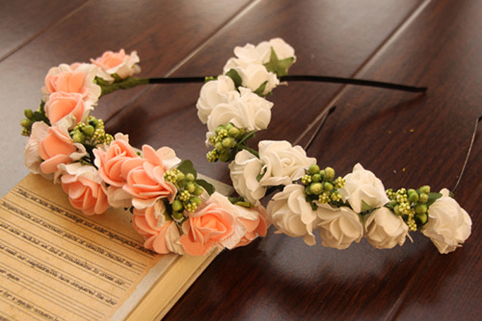 Fashion Vogue Rose Floral Headband Garland Festival Wedding Bridal Hairband