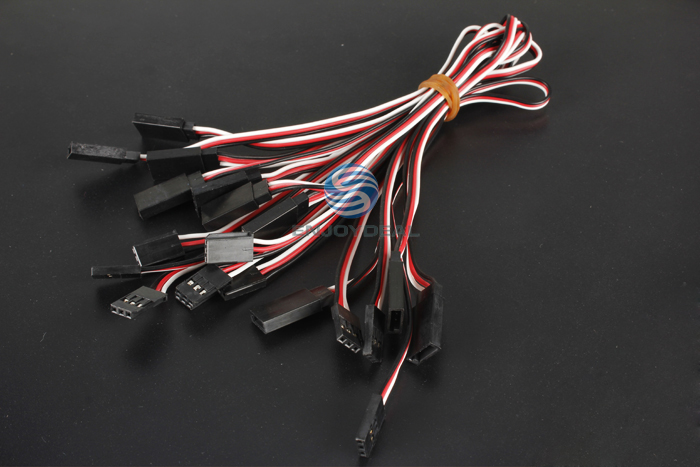 10 Pcs 30cm Wire Servo Extension Lead Wire Cable Male to Female 3-Pin