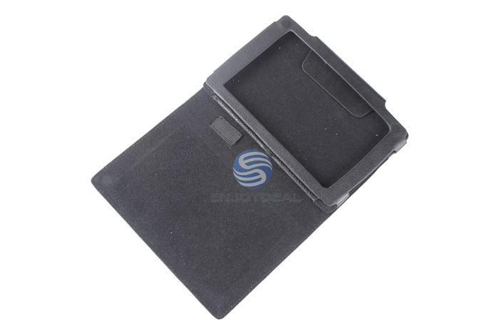 Black Leather Protective Portable Holster Cover for Sony PRS-T2 Tab