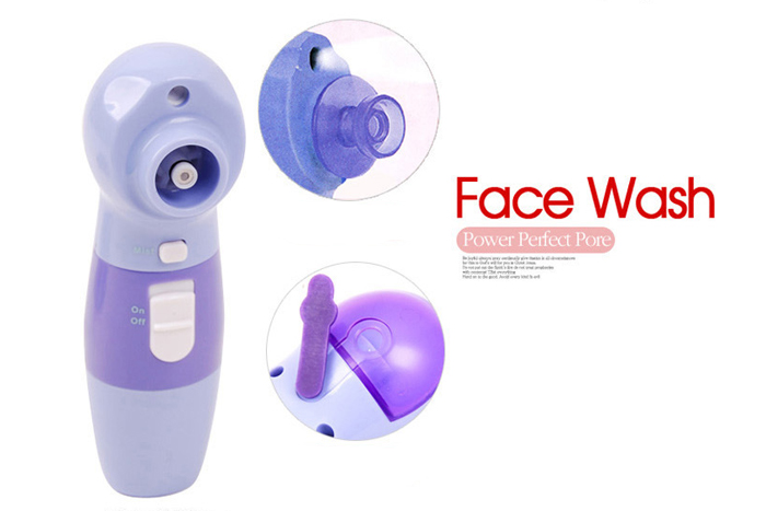 4 in1 Face Cleaner Pore Blackhead Facial Skin Brush Rotary Scrubber Massage