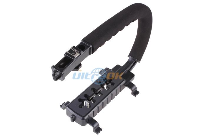 New U Type Camcorder Digital Video DV Stabilizing Handle Stabilizer Black