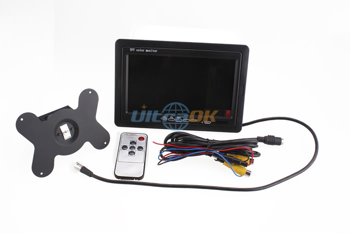 "7\"" TFT LCD Screen Color Car Rearview Headrest Monitor For VCR DVD GPS"