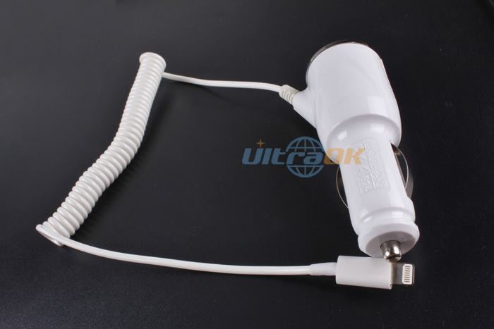 New Portable Auto Car Charger Adapter 8 Pin USB Cable for iPhone5 iPod Mini