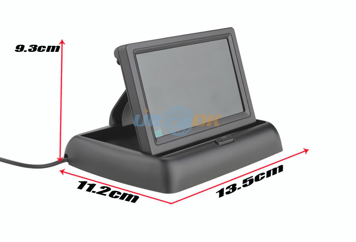 Mini 4.3 inches TFT LCD Display Foldable Monitor Car Reversing Rear View
