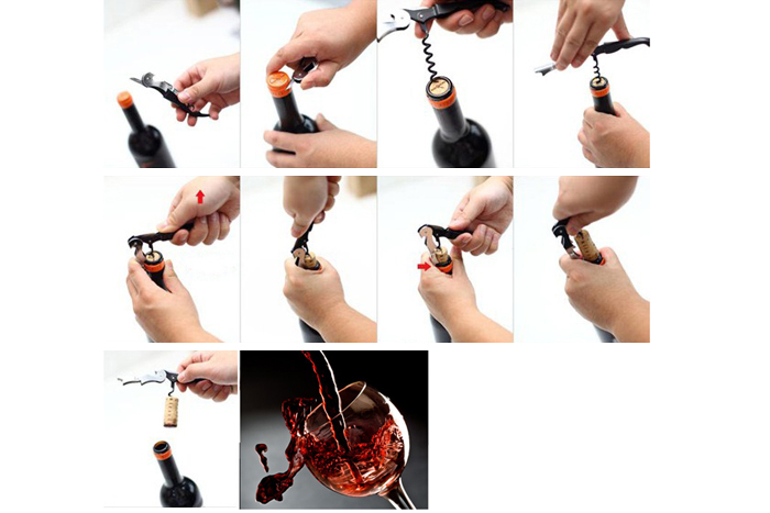 Stainless Steel Corkscrew Supplies Seahorse Shape Bottle Cap Wine Opener