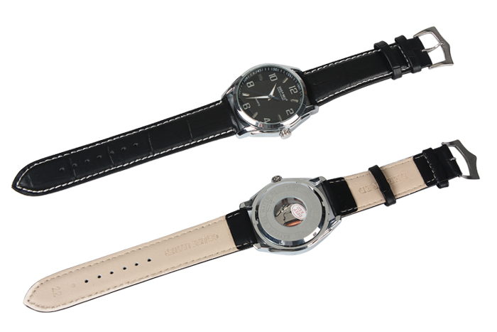 Wholesale Durable and Practical  Wrist Watch Leather Belt Sewing with White Thread