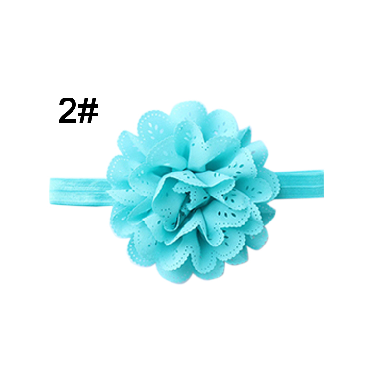 New Cute Hair Band Handmade Flower Headwear Headband for Infant Baby Girls