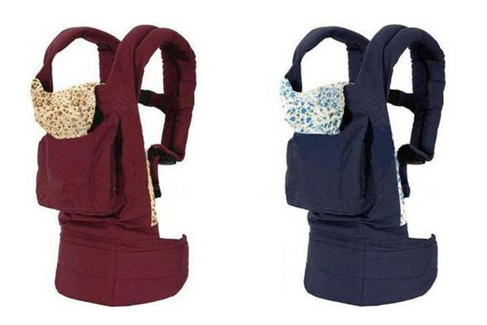 Fashion Baby Carrier Sling Wrap Rider Comfort Backpack Designed with a Cap