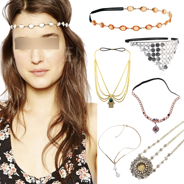 Fashion Women Metal Rhinestone Headband Head Piece Hair Band Chain Jewelry