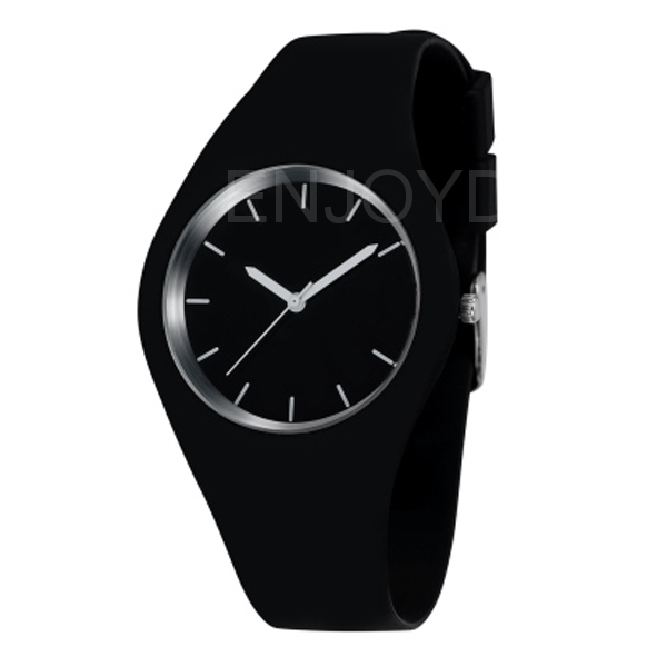 Wholesale Super Soft Jelly Silicone Quartz Wrist Watch Waterproof Casual Style Watch