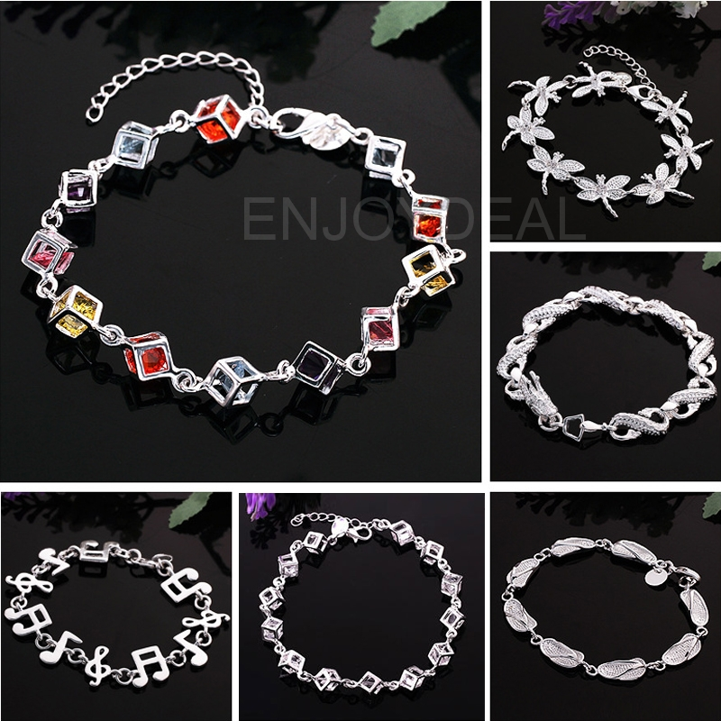 Unique Bracelet for Women Ladies Silver Plated Chain Bracelet Hand Chain