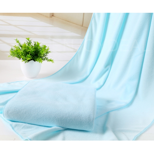 70x140 Absorbent Microfiber Soft Bath Towel Beach Swimming Shower Washcloth