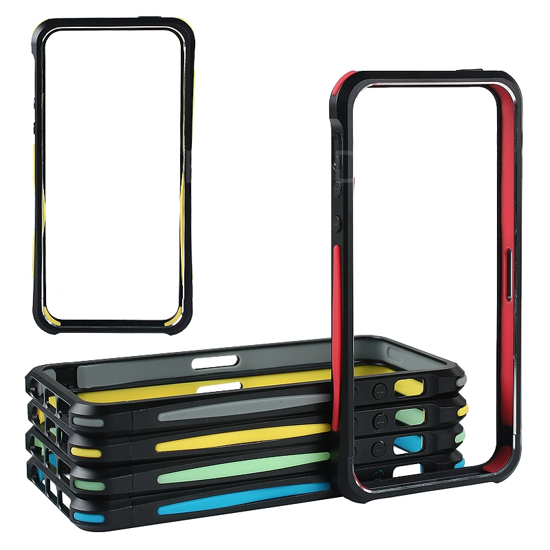New Mobile Phone Metal+TPU Frame Phone Decoration Accessory for iPhone5/5s