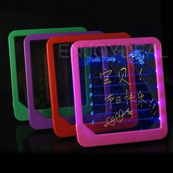 Amazing Glowing LED Display Light-up Illuminate Message Text Writing Board