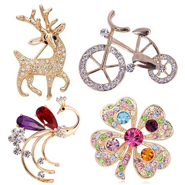 Women Brooch Beauty Cute Retro Corsage Brooch Accessories Jewelry for Decor