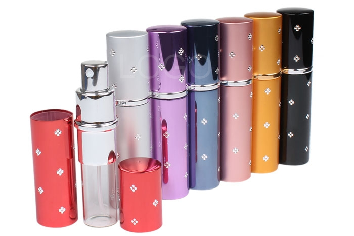 7pcs 10ml Protable Flower Pattern Refillabl Perfume Atomizer Spray Bottle