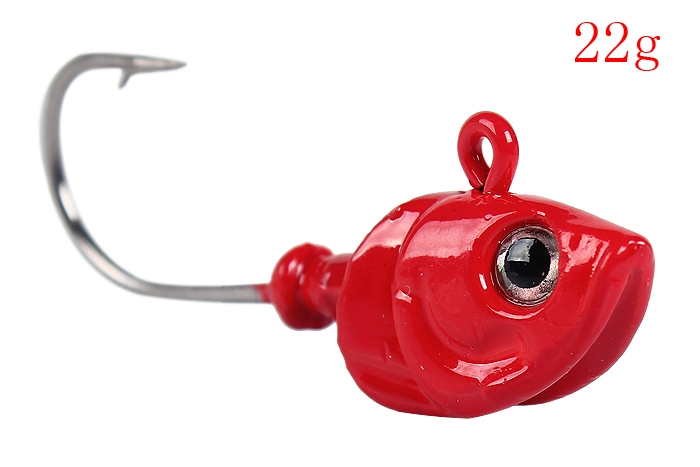 New Red Head Fishing Lure Fake Diving Bait with Single Hook for Sea Fishing