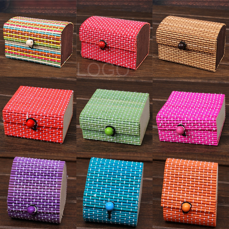Bamboo Storage Box Organizer Jewellery Box for Storing Daily Accessories