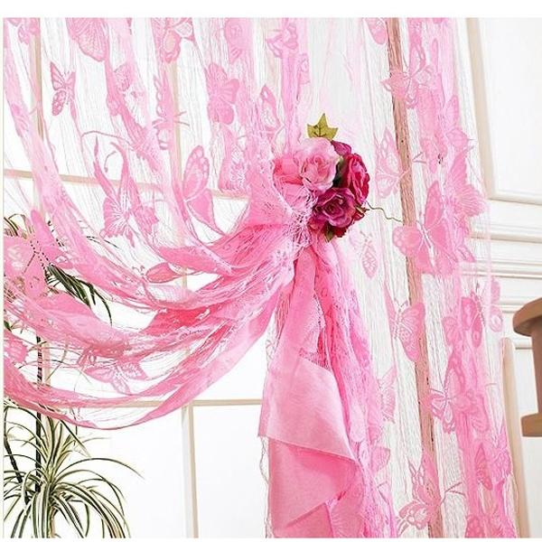Beautiful Cute Butterfly Tassel String Door Curtain Window Room Divider
