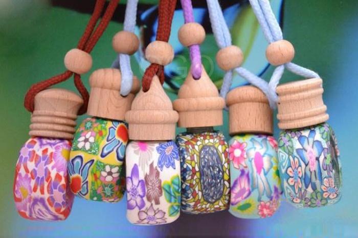 Wholesale Handmade  Perfume/Aromatherapy /Essential Oil Bottle Pendant Car Ornaments