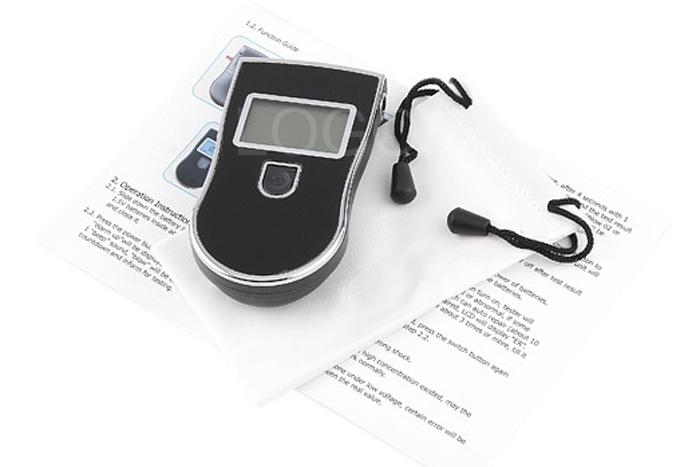 New AT-818 Digital Breath Alcohol Tester LCD Blow Breathalyzer Analyzer