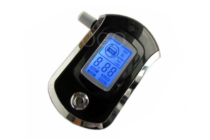 AT6000 Police Digital Breath Alcohol Tester LCD Blow Breathalyzer Analyzer