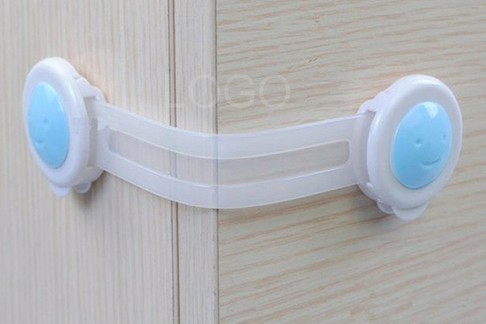 4pcs Plastic Bendy Door Drawer Fridge Cupboard Cabinet Safety Locks Straps