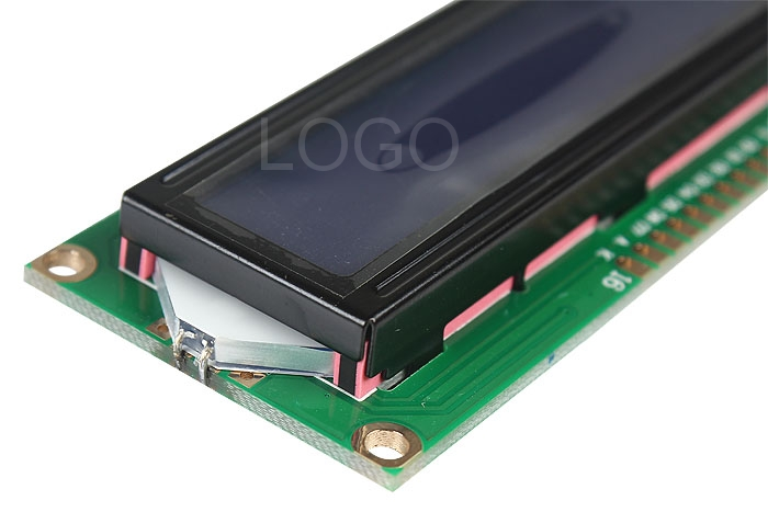 Standard 16�2 Character Blue Backlight LCD Display Module Black+ Green