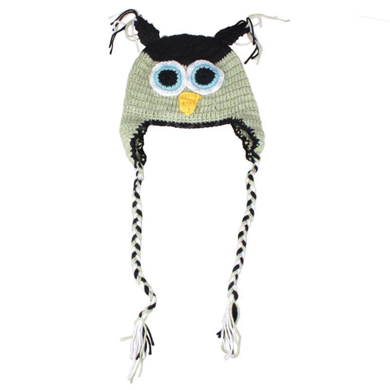 Wholesale Fashion Baby Crochet Knitting Animal Owl Hat Warm Baby Winter Owl Beanie Ha
