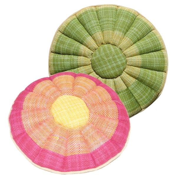 Comfort Cotton&Hemp Round Cushion Sofa Cushion Pad Balcony Mat Floor Mat