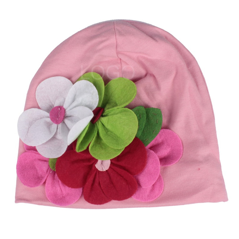 Fashion Cute Baby Winter Knitted Handmade Flower Hats Caps Christmas Hat