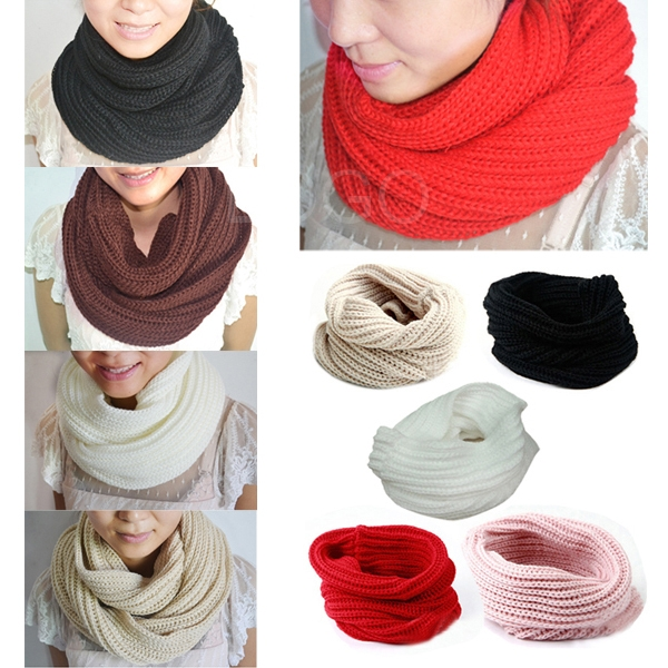 Unisex All-match Winter Warm Knitting wool Collar Neck Warmer Scarf Shawl