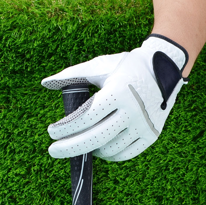 1Pair Fashion Men Sheepskin breathable and comfortable outdoor Golf Gloves