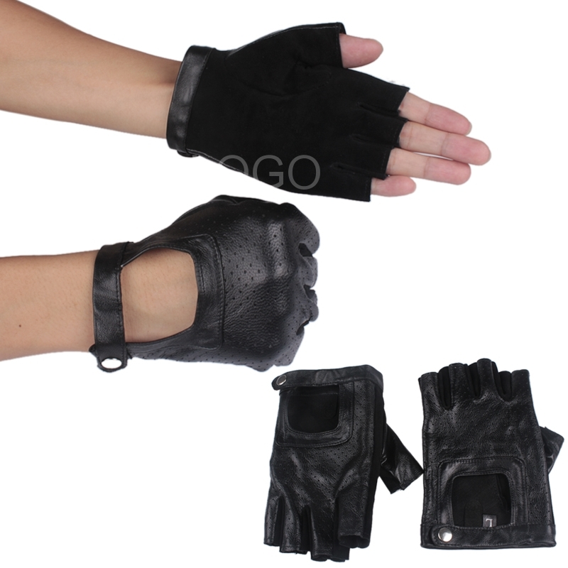 1 pair of Women Half Finger Lady Gloves Driving Gloves Sport Gloves Black