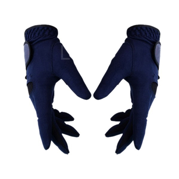 Wholesale 1Pair Breathable and Comfortable Outdoor Male Anti-slip Golf Gloves Blue