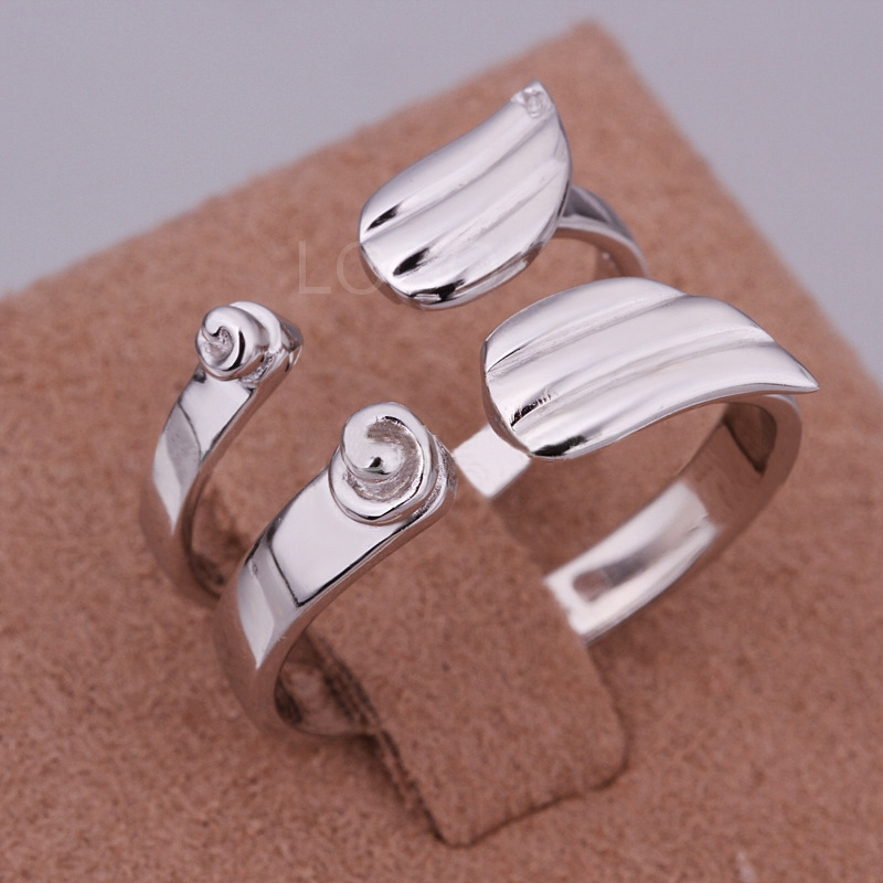 Fashion Korean Style Platinum Plating The wings Pattern Couple Lovers Ring
